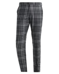 Pantalón de Vestir a Cuadros Gris Oscuro de Tommy Hilfiger