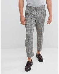 Pantalón de vestir a cuadros gris de ASOS DESIGN