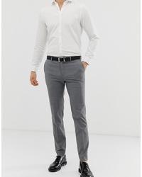 Pantalón de vestir a cuadros gris de Burton Menswear