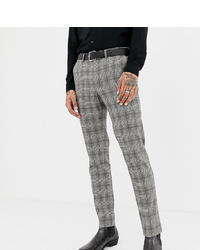 Pantalón de vestir a cuadros gris de Heart & Dagger