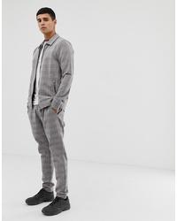 Pantalón de vestir a cuadros gris de Jack & Jones