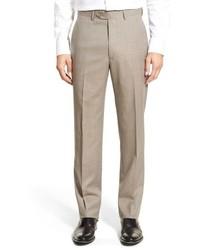 Pantalón de vestir a cuadros marrón claro