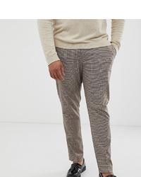 Pantalón de vestir a cuadros marrón de ASOS DESIGN