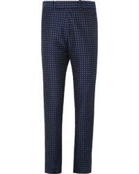 Pantalón de vestir a lunares en azul marino y blanco de Alexander McQueen