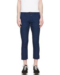 Pantalón de vestir a lunares en azul marino y blanco de Closed