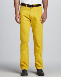 Pantalón de vestir amarillo