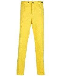 Pantalón de vestir amarillo de Pt01