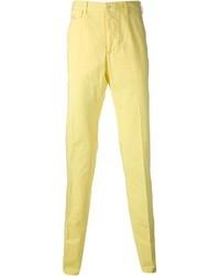 Pantalón de vestir amarillo de Salvatore Ferragamo