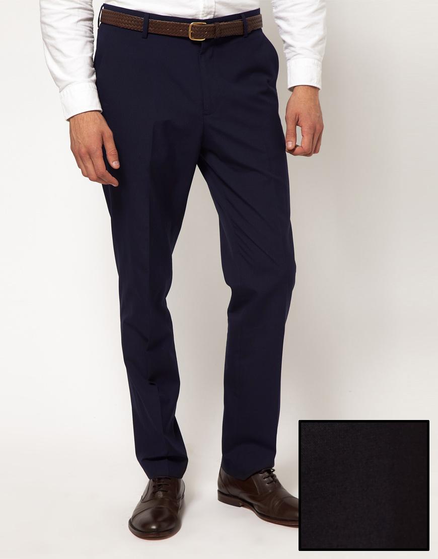 56ae2e5ab ... Pantalón de vestir azul marino de Asos