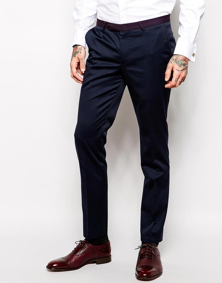 Combinar Pantalon De Vestir Azul Marino Hombre 1 Jersey