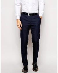 Pantalón de Vestir Azul Marino de Ted Baker