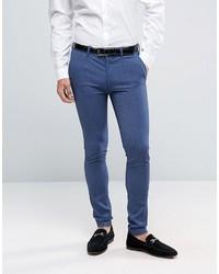 Pantalón de Vestir Azul de Asos