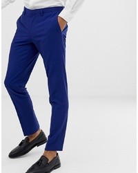 Pantalón de vestir azul de Burton Menswear