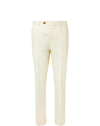 Pantalón de vestir blanco de Brunello Cucinelli