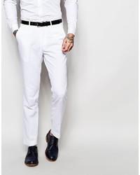 09b16823c Comprar un pantalón de vestir blanco  elegir pantalones de vestir ...