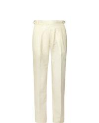 Pantalón de vestir blanco de Zanella