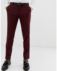 Pantalón de vestir burdeos de ASOS DESIGN