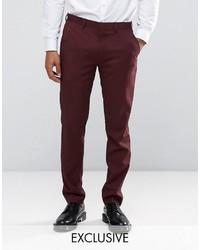 Pantalón de vestir burdeos de ONLY & SONS