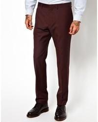Pantalón de vestir burdeos de Ps By Paul Smith