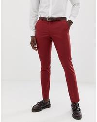 Pantalón de vestir burdeos de Selected Homme
