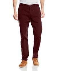 Pantalón de Vestir Burdeos de Tommy Hilfiger
