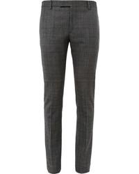 Pantalón de Vestir de Cuadro Vichy Gris Oscuro de Saint Laurent