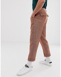 Pantalón de vestir de espiguilla naranja de ASOS DESIGN