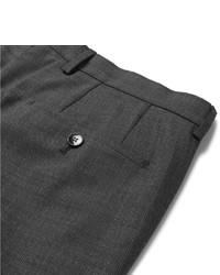 Pantalón de Vestir de Lana a Cuadros en Gris Oscuro de Hugo Boss