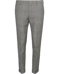 Pantalón de vestir de lana a cuadros gris