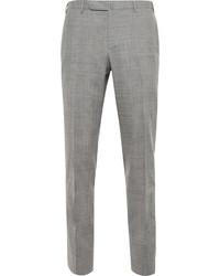Pantalón de vestir de lana a cuadros gris de Boglioli