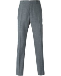 Pantalón de vestir de lana a cuadros gris de Marni