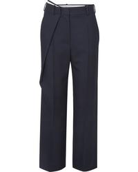 Pantalón de vestir de lana azul marino de Cédric Charlier