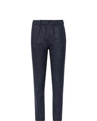 Pantalón de vestir de lana azul marino de Incotex