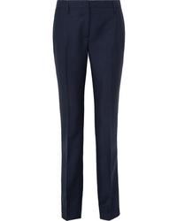 Pantalón de vestir de lana azul marino de Prada