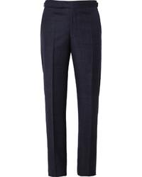 Pantalón de vestir de lana azul marino de Richard James