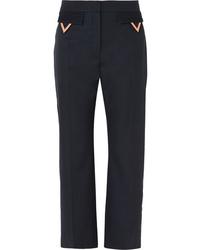 Pantalón de vestir de lana azul marino de Valentino