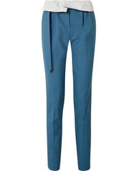 Pantalón de vestir de lana azul de Gabriela Hearst