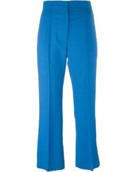 Pantalón de Vestir de Lana Azul de Marni