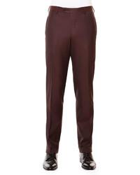 Pantalón de vestir de lana burdeos