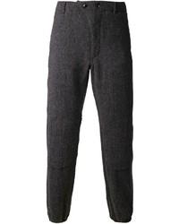 Pantalón de vestir de lana de espiguilla en gris oscuro de Engineered Garments