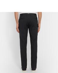 Pantalón de vestir de lana de espiguilla en gris oscuro de Incotex