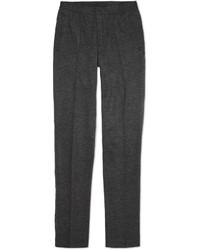 Pantalón de Vestir de Lana de Espiguilla Gris Oscuro de Lanvin
