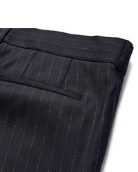 Pantalón de Vestir de Lana de Rayas Verticales Azul Marino de Paul Smith