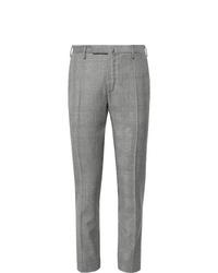 Pantalón de vestir de lana de tartán gris de Incotex