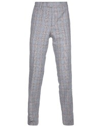 Pantalón de vestir de lana de tartán gris de Paul & Joe