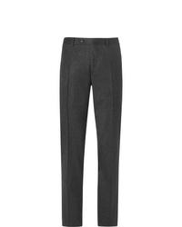 Pantalón de vestir de lana en gris oscuro de Canali
