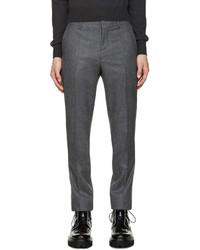 Pantalón de vestir de lana en gris oscuro de Carven