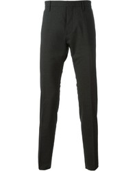 Pantalón de vestir de lana en gris oscuro de DSQUARED2