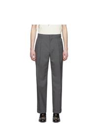 Pantalón de vestir de lana en gris oscuro de Gucci