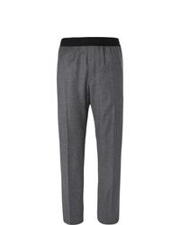 Pantalón de vestir de lana en gris oscuro de Helmut Lang